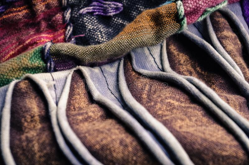 Colourful Hippie Fabric royalty free stock images