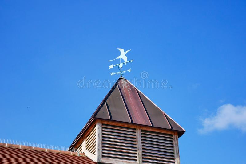 Colourful Home & weather forecast sign with blue sky royalty free stock photos