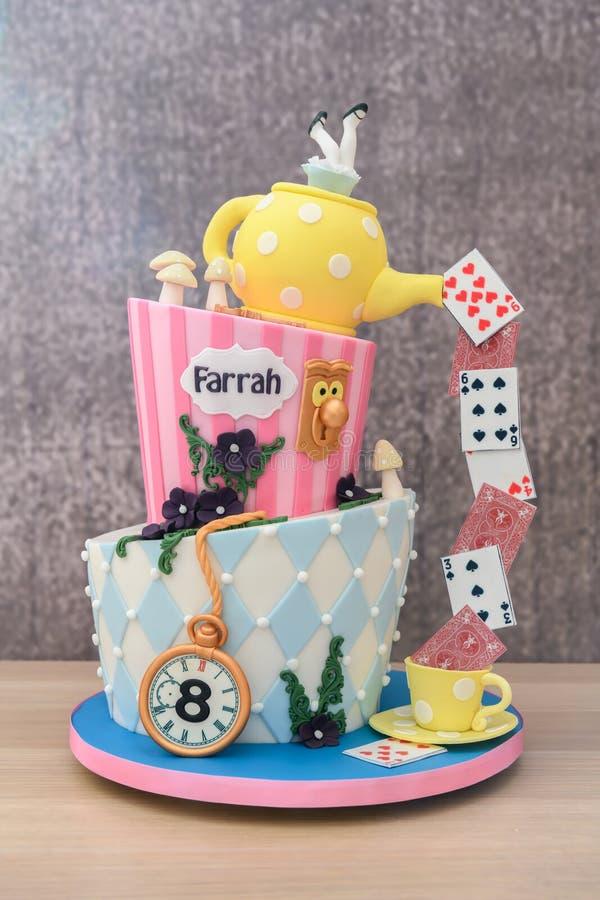 Homemade novelty cake royalty free stock photo