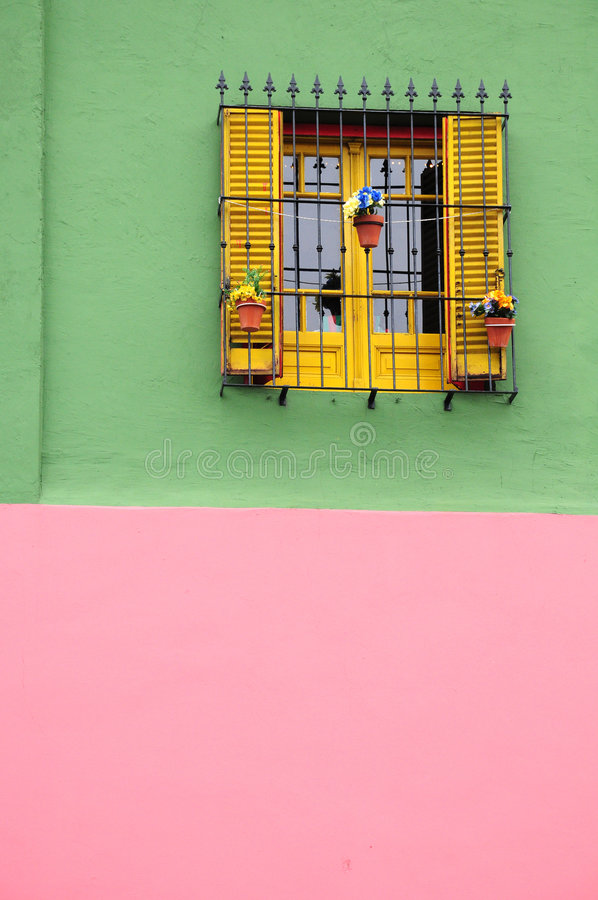 Colourful house of caminito stock photos