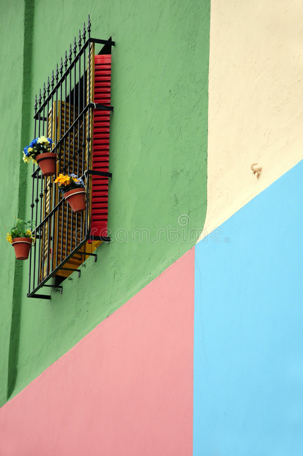 Colourful house of caminito stock images
