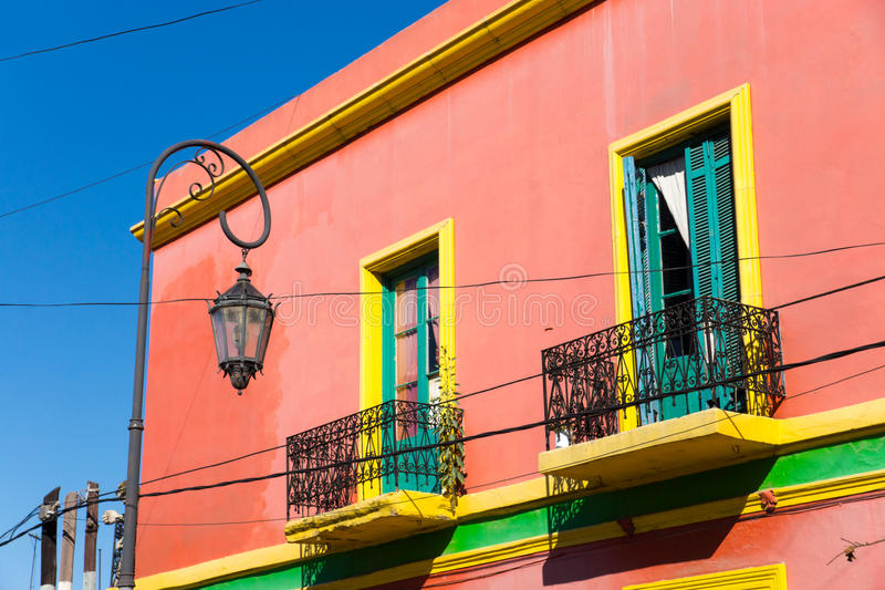 Colourful house in La Boca royalty free stock photography
