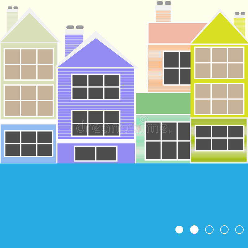 Free Colourful Houses Royalty Free Stock Photos - 24839858