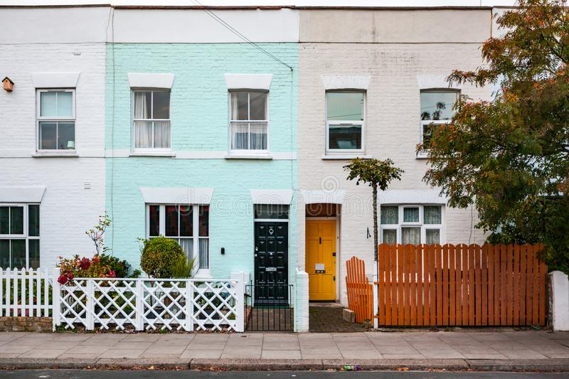 Colourful houses in London royalty free stock photos