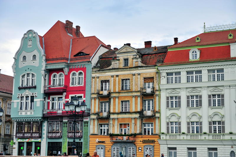 Colourful houses of Timisoara. Romania royalty free stock photography