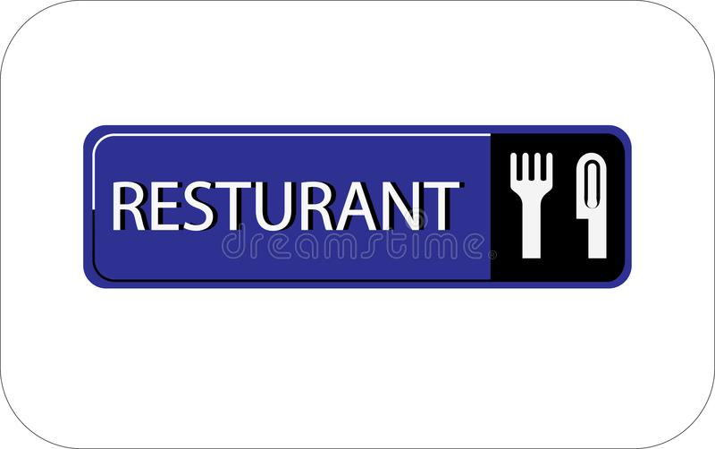 Colourful resturant vector image web icon stock illustration