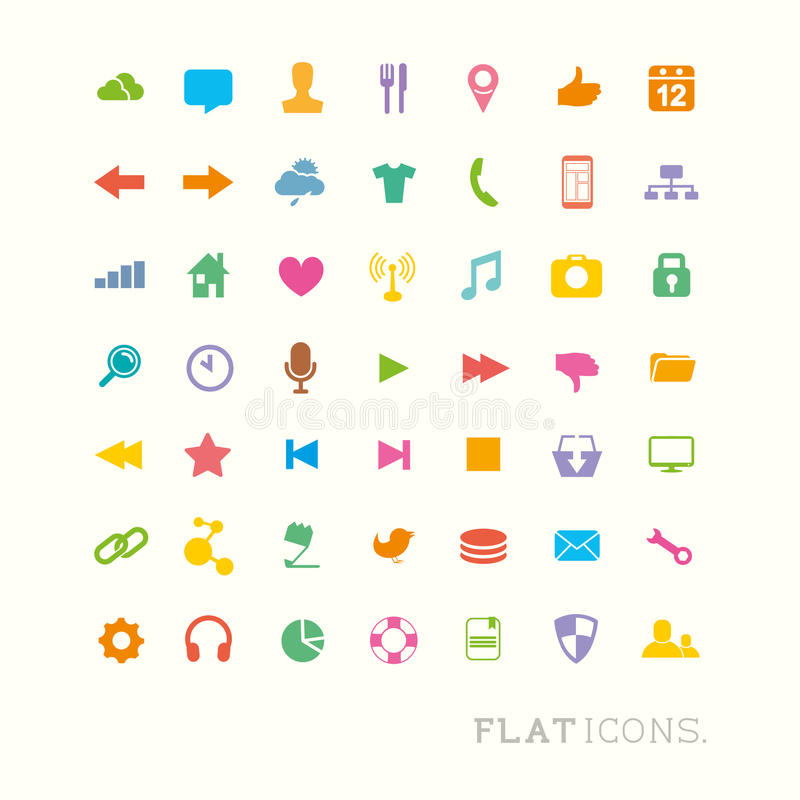 Download Colourful Interface Icons stock vector. Illustration of computer - 30397693
