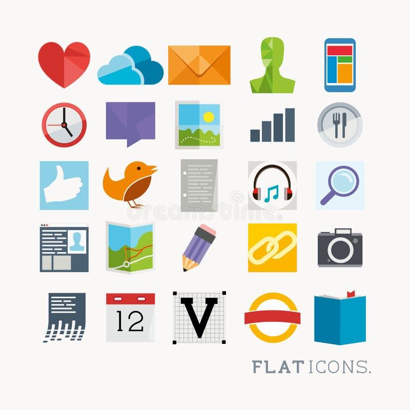 Colourful interfejs ikony ilustracja wektor