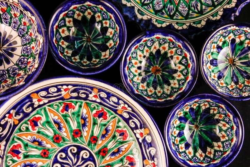 Colourful jaskrawy wschodu stylu talerzy ornament obraz stock