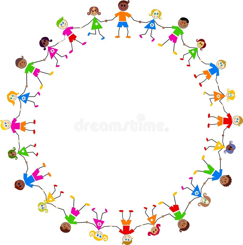 Colourful kids stock illustration