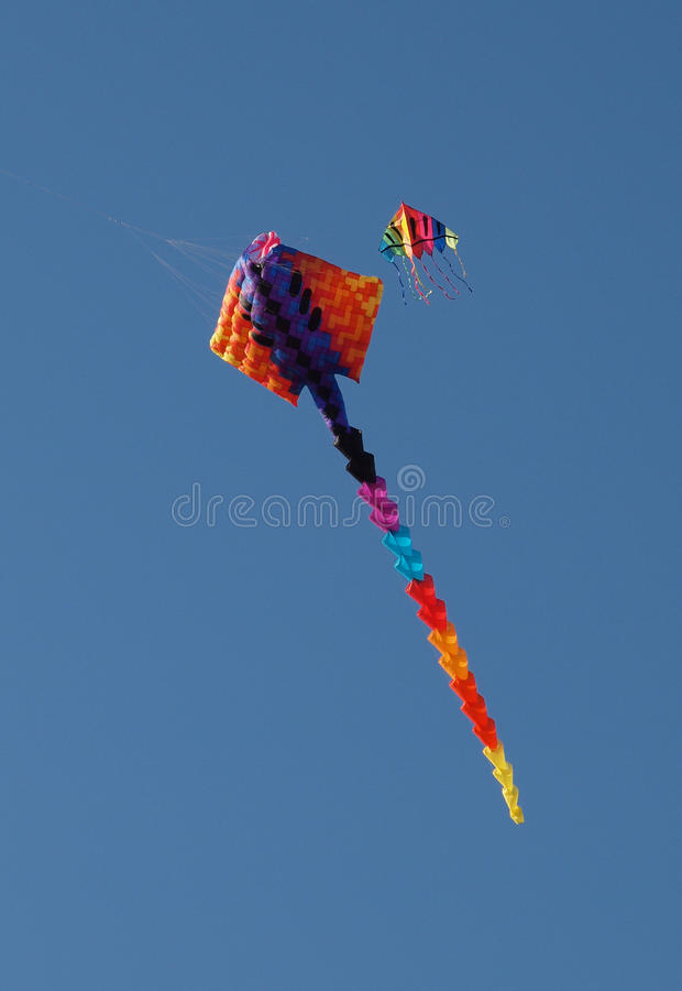 Colourful Kites In The Sky Stock Photo