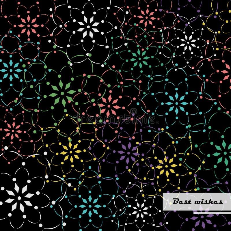 Colourful kwiatu wzoru tło royalty ilustracja