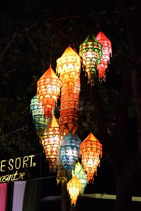 Colourful lampiony obraz stock