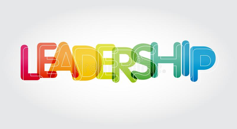 Colourful leadership word motivation and inspireation stock image
