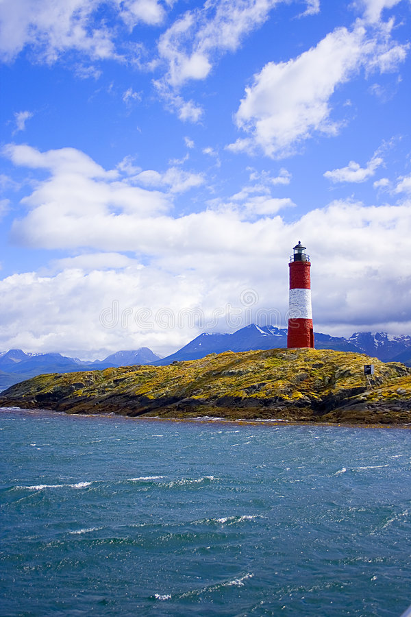 A colourful lighthouse royalty free stock photos