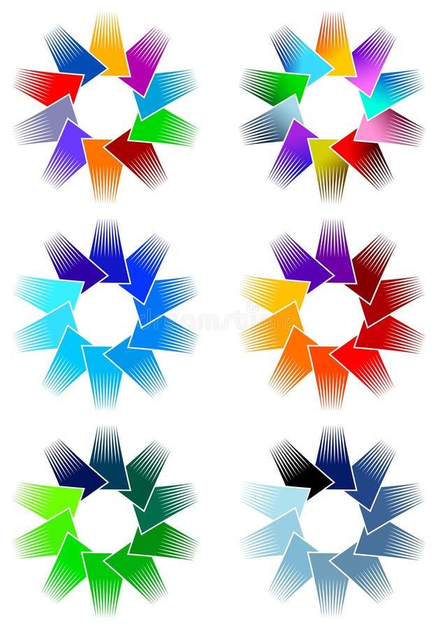 Colourful Logo Set Stock Photography