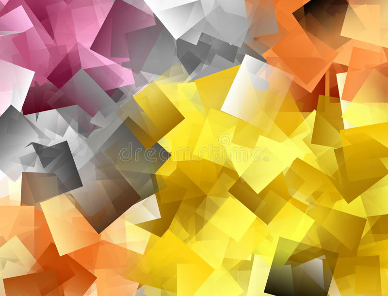Colourful mosaic background in red, yellow and grey. Spectrum vector illustration