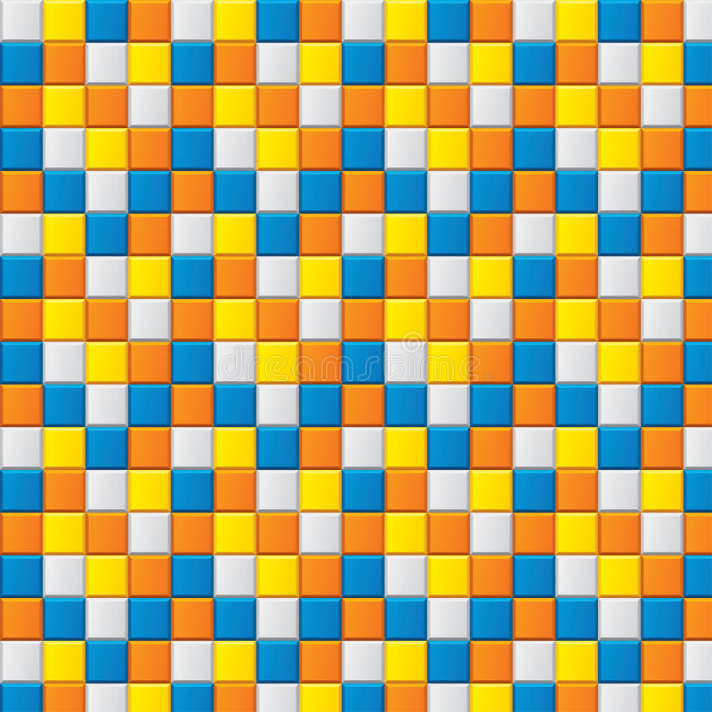 Download Colourful Mosaic With Four Colored Squares Stock Vector - Image: 28456559