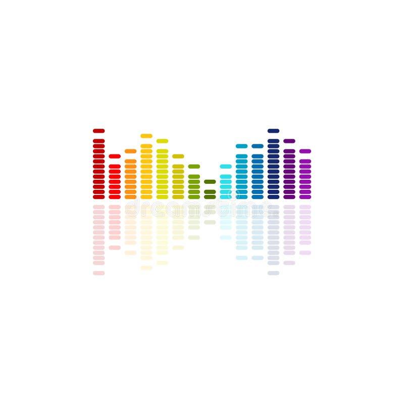 Colourful music equalizer vector, sound wave vector illustration royalty free illustration