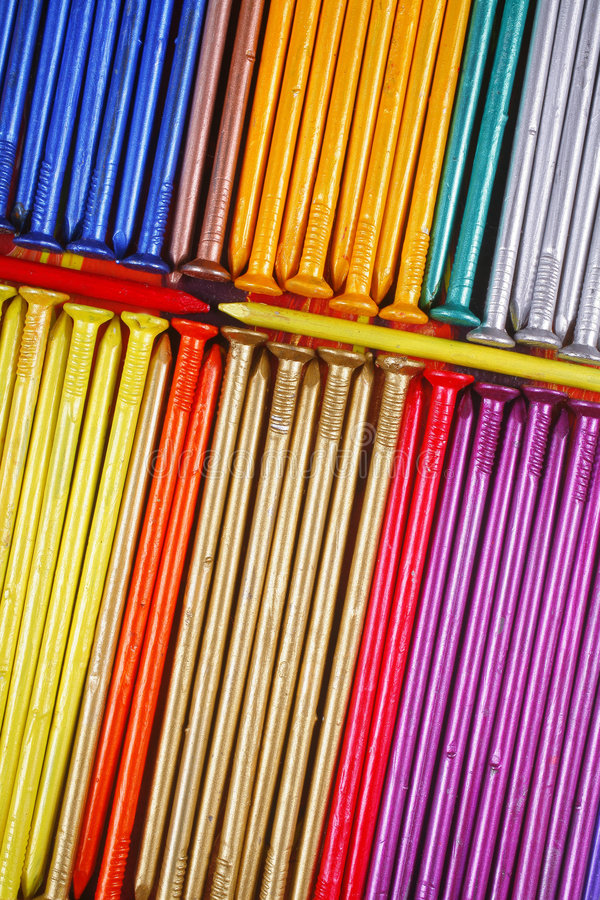 Download Colourful nails stock image. Image of bright, pieces, tools - 4054479