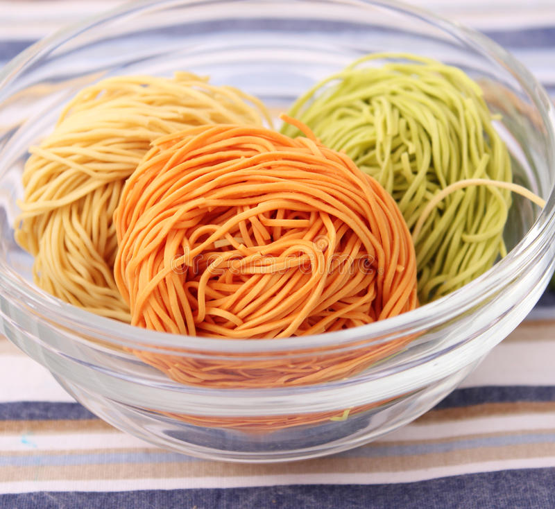 Download Colourful Noodles stock image. Image of white, green - 18169919
