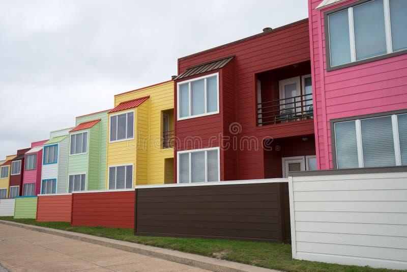 Colourful nowożytna budynek architektura obrazy royalty free