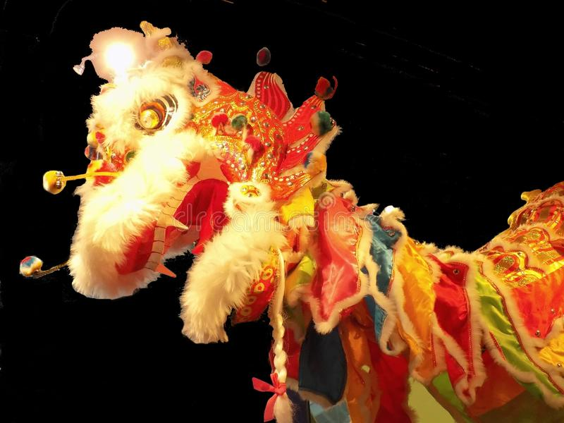 Colourful Oriental Carnival Dragon royalty free stock photography