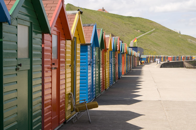 Download Colourful Painted Beach Huts At Whitby Stock Image - Image: 7976845