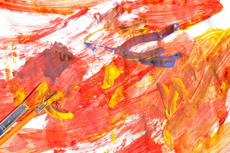 Download Colourful painting stock image. Image of artwork, white - 25016959