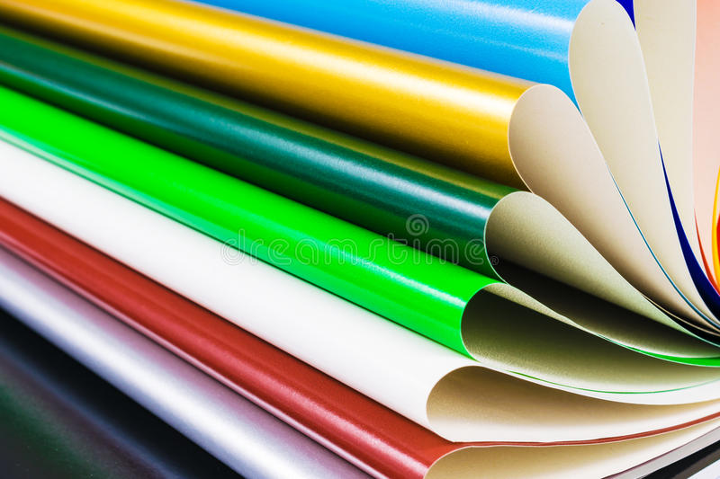 Colourful Paper isolated on white stock photos