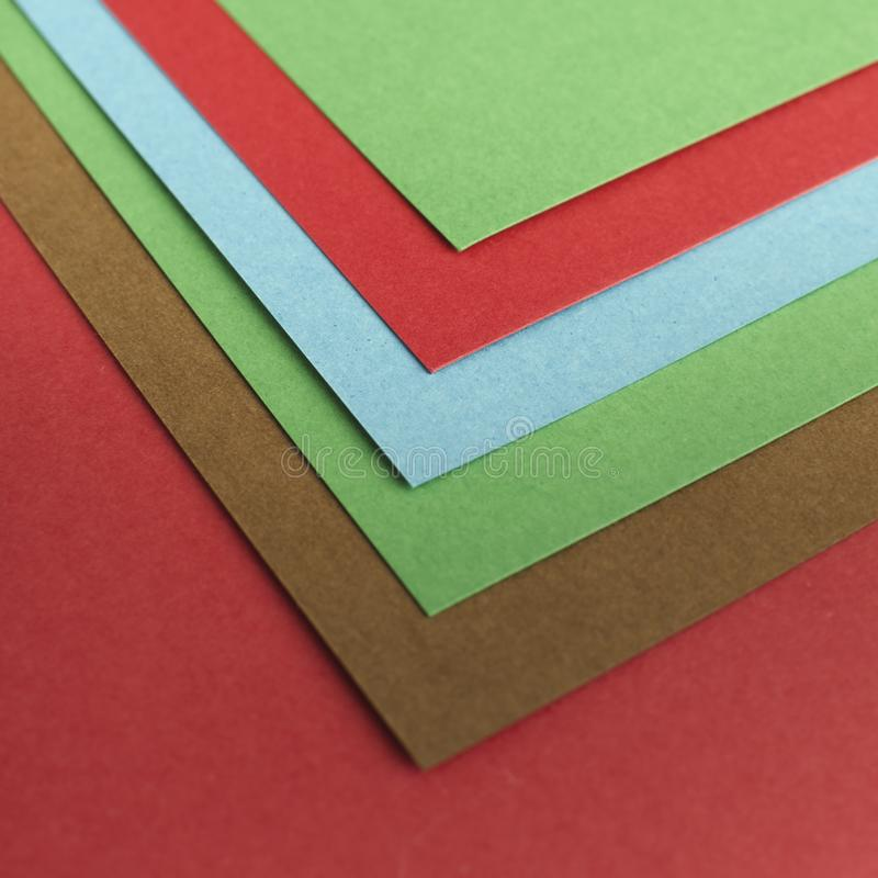 Colourful Papers In Abstract Forms. Abstract colored paper texture minimalism background stock image
