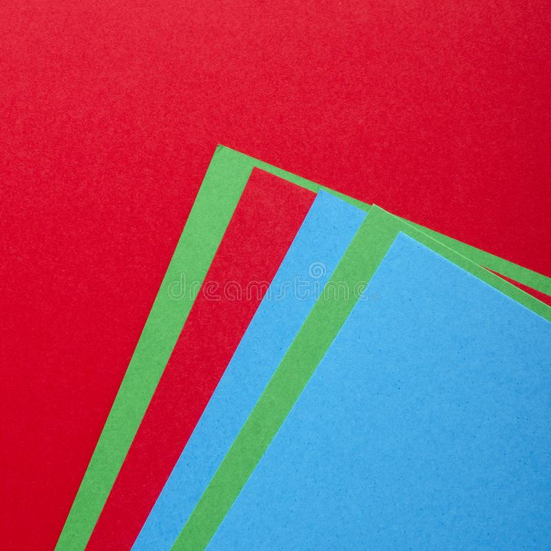 Colourful Papers In Abstract Forms. Abstract colored paper texture minimalism background stock photography