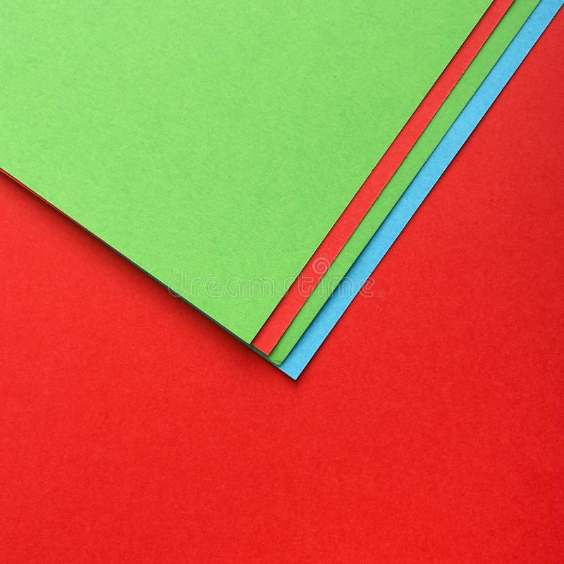 Colourful Papers In Abstract Forms. Abstract l colored paper texture minimalism background stock photo
