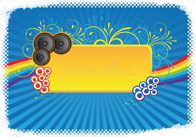 Colourful party background royalty free illustration