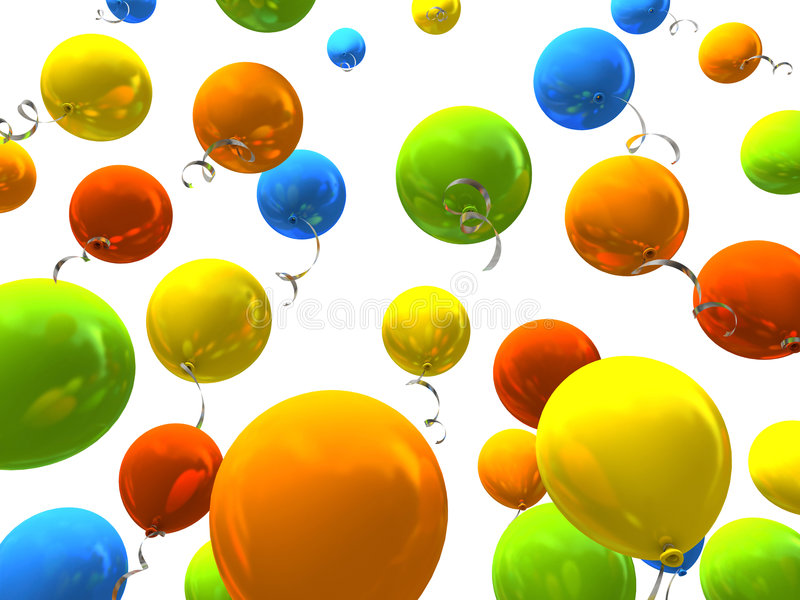Download Colourful party balloons stock illustration. Illustration of circus - 7266538