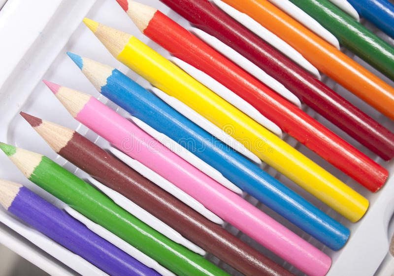 Download Colourful pencils stock photo. Image of education, pink - 27534620