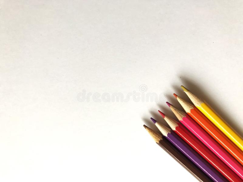 Colourful pencils royalty free stock photo
