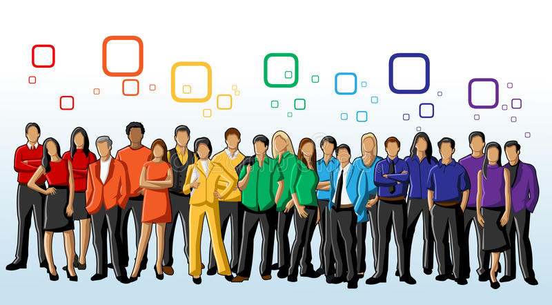 Colourful People stock illustration