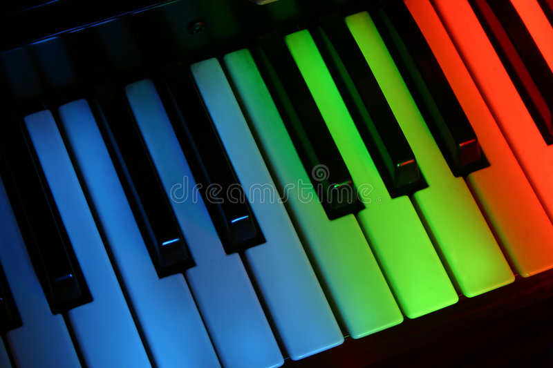 Download Colourful piano stock image. Image of green, play, colourful - 604549