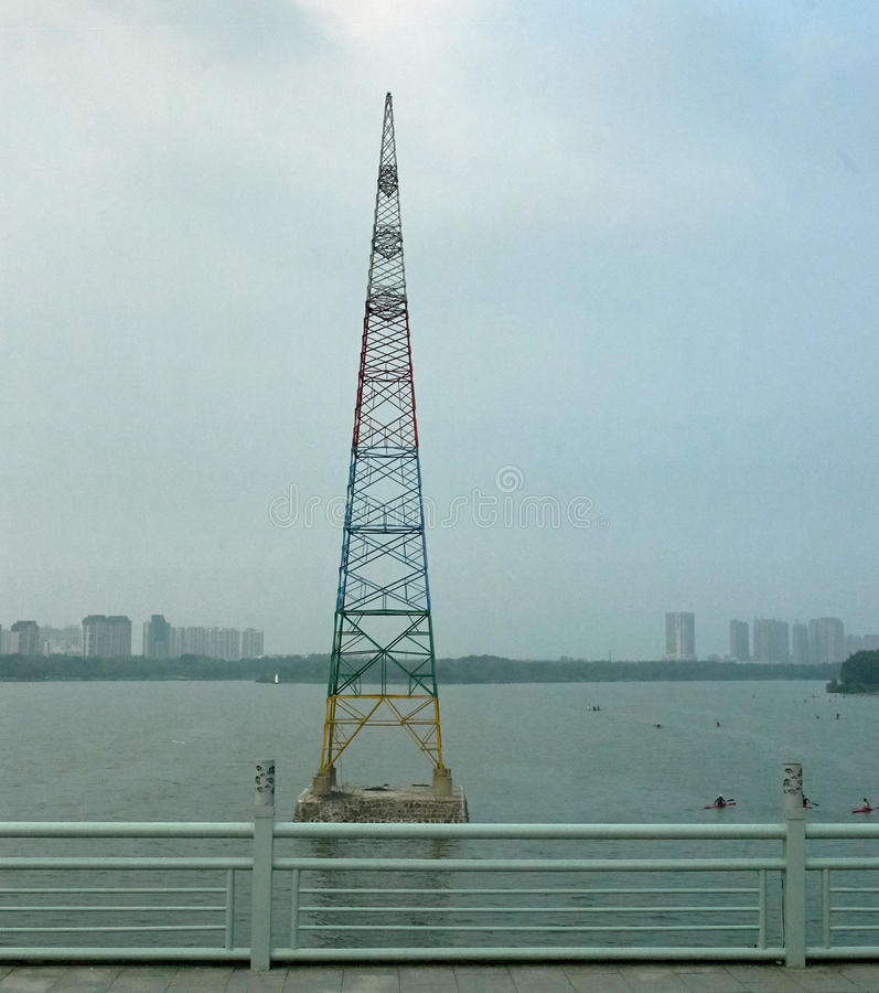 Colourful pilon w Shenyang, Chiny zdjęcie royalty free