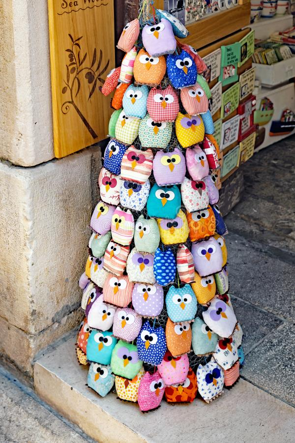 Colourful Pin Cushions, Zadar, Croatia royalty free stock images