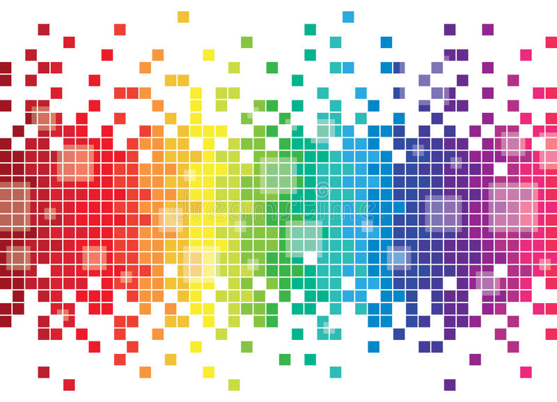 Colourful Pixel Background. An illustration of a wavy pixel background