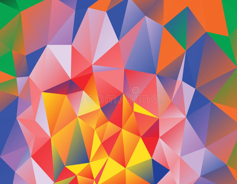 Colourful Polygonal Vector Background royalty free illustration