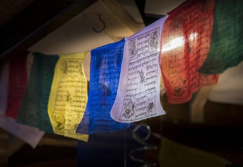 Colourful Prayer Flags royalty free stock photos