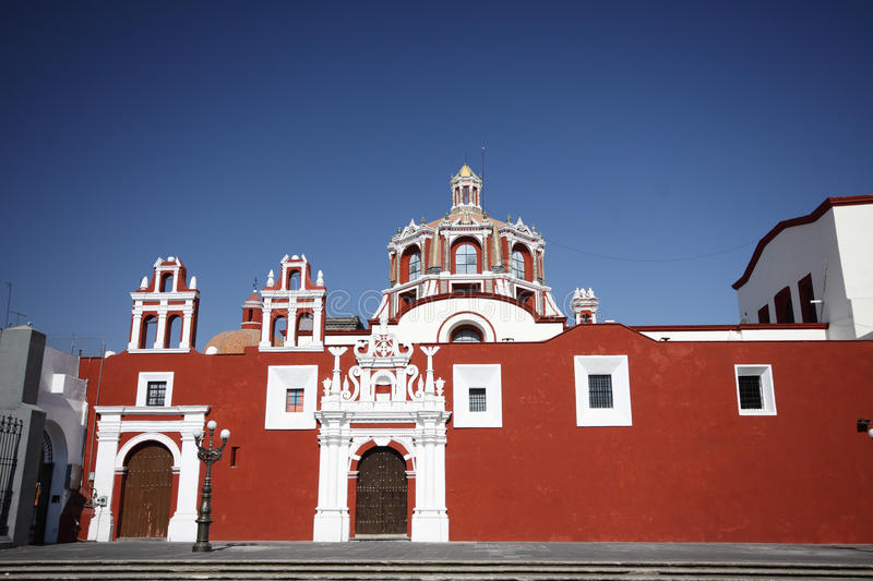 Colourful Puebla. Colourful Rosary Chapel in Puebla stock image