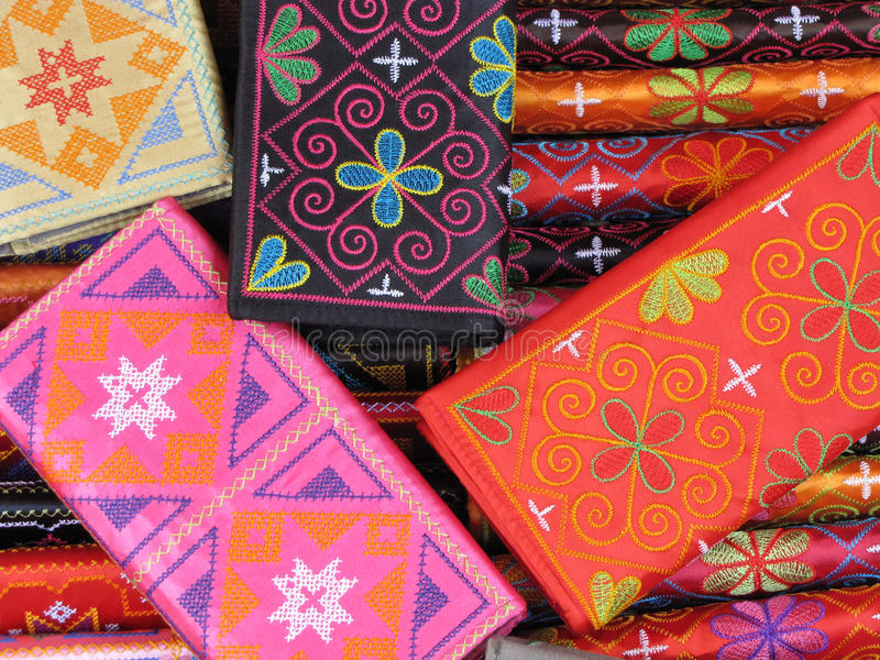 Colourful purses stock images