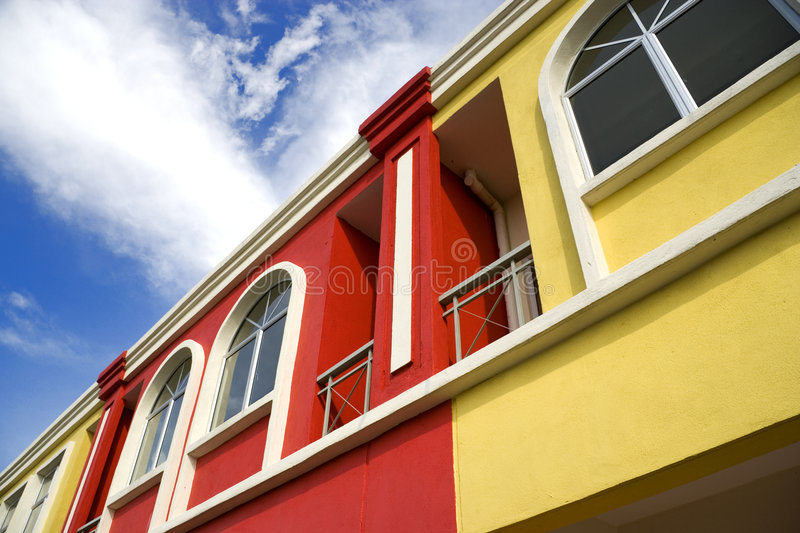 Colourful Real Estate royalty free stock photo