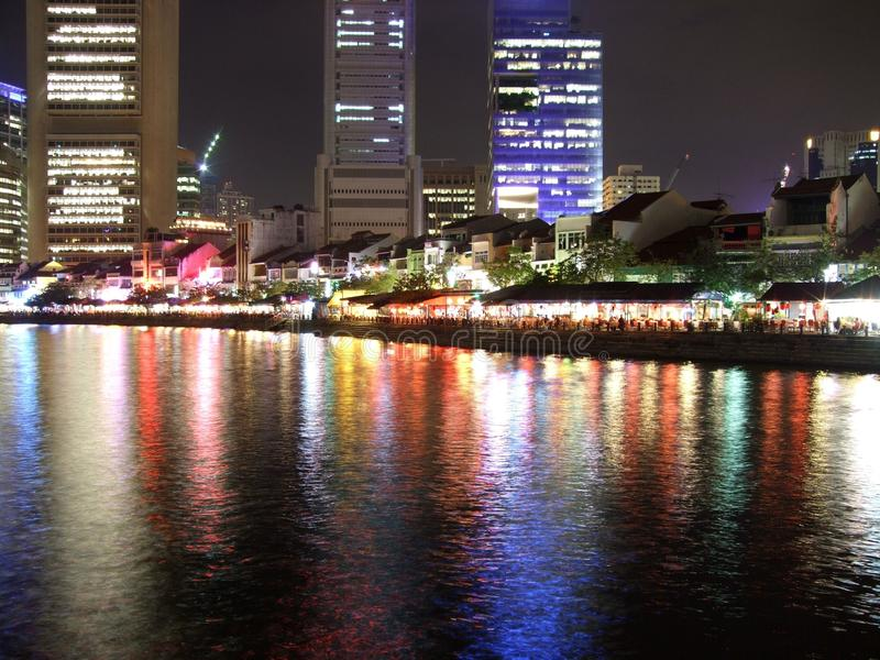 Download Colourful Reflection At Singapore River Stock Image - Image: 13484313