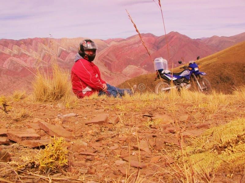 Colourful rockowa formacja w Andes obrazy royalty free