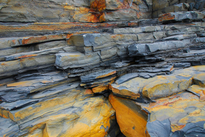 Colourful rocks stock photography